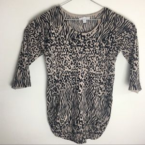 Dana Buckman, Women's Animal Print Sweater, Size S
